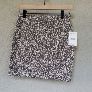 NWT Free People Skirt Leopard print Size 2